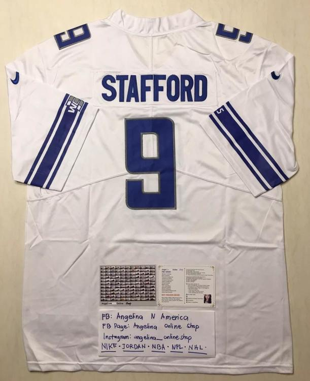 366bbd1971f Nike Lions Stafford 9 NFL Jersey Fully Stitched S-3XL | Football ...