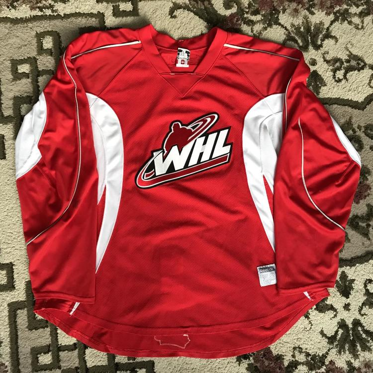 Reebok WHL Pro Stock CCM Practice Jersey - Red  bfd3e346f2f