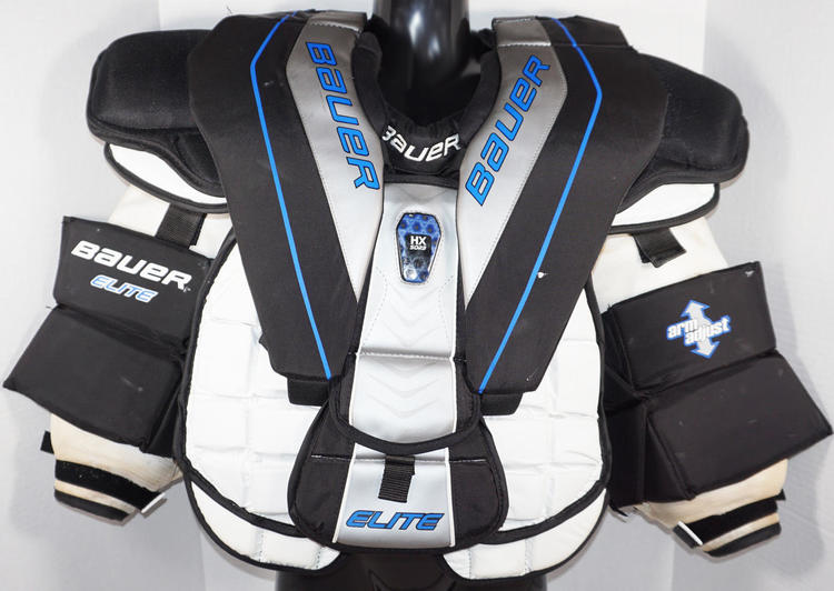 Bauer Elite Adult Small Chest Arm Pad Protector Ice Roller Used