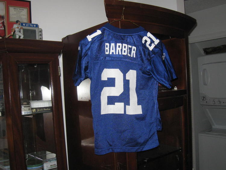 online retailer 583f4 c80c9 NY GIANTS TIKI BARBER YOUTH REEBOK HOME JERSEY(S-8)