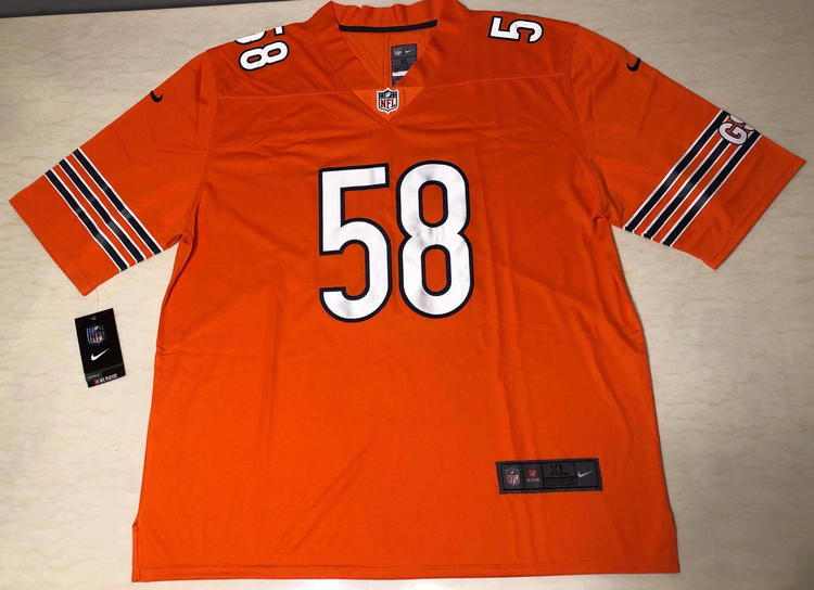 1a57982efb9 Nike Smith 58 Orange NFL Jersey Fully Stitched | Football Apparel |  SidelineSwap
