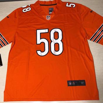 862cd14e00e Nike Smith 58 Orange NFL Jersey Fully Stitched | Football Apparel ...