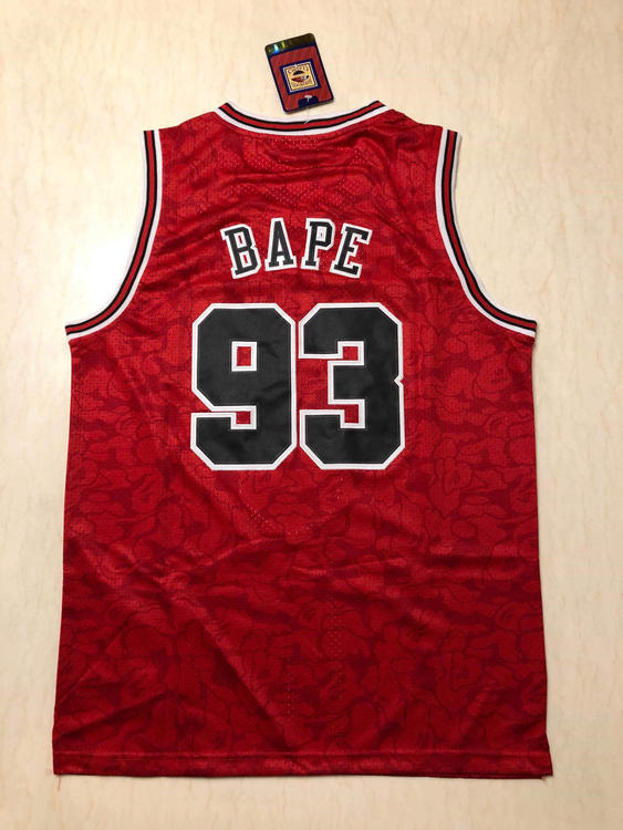 8aa17f3f90fc Nike Bulls Bape 93 Mitchell   Ness Fully Stitched S-2XL Sizes Available