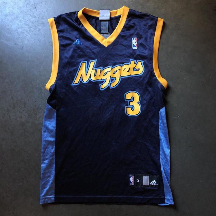 156b4e9c ... release date mens adidas denver nuggets allen iverson ai 3 navy blue  alternate jersey sz s