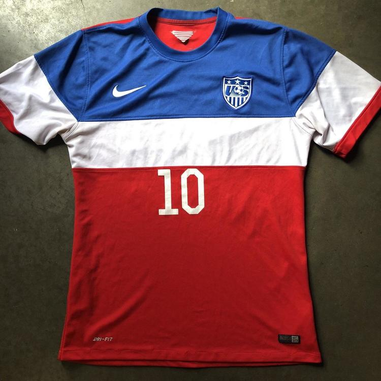 fd2a38699 Men s Nike Dri-Fit Team USA USMNT Olympic World Cup Landon Donovan Jersey  ...