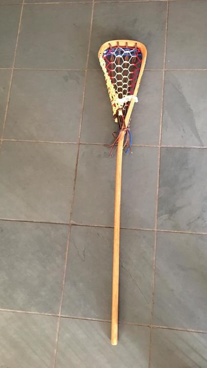 Vintage Patterson Wooden Lacrosse Stick Tuscarora Nation Indians 43 Long Mint