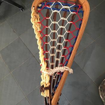 Vintage Patterson Wooden Stick Tuscarora Nation Indians 43 Long