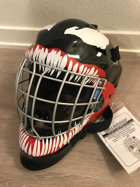 Vaughn Custom Designed Venom Senior Mask Helmet Sold Hockey