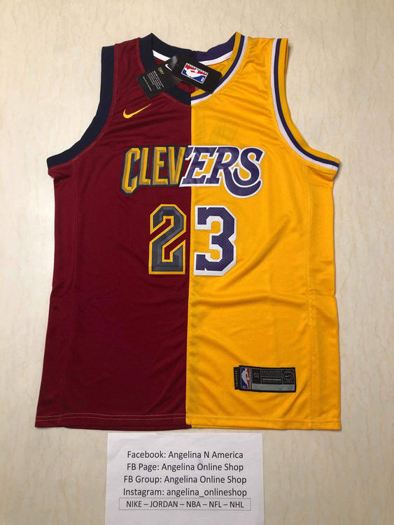 buy online 327da 5beb7 Cleveland + Lakers 23 James Dual Fully Stitched Jersey