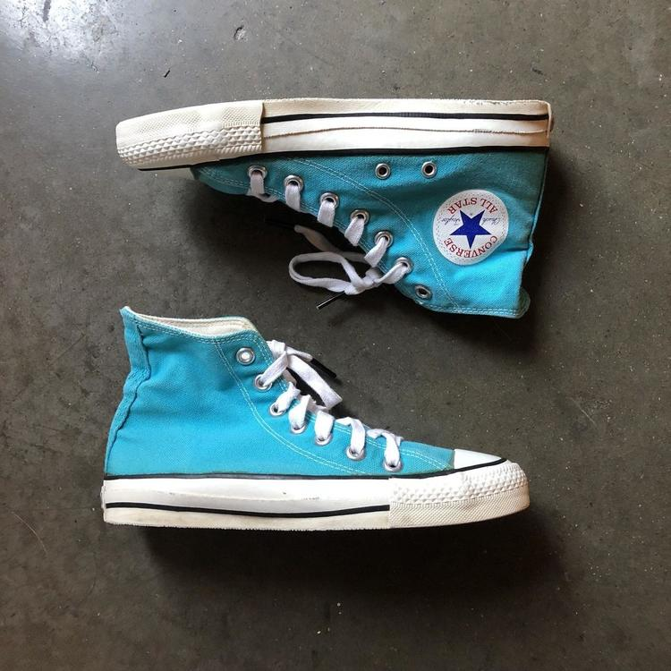 69d758f6933a Converse Women s Vintage Made in The USA Chuck Taylor All-Star Teal Blue Sz  6
