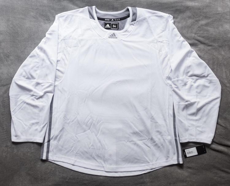 online store 2df25 5d11d Blank Adidas Hockey Practice Jersey Size 54 White Pro Stock Adizero *LAST  ONE*