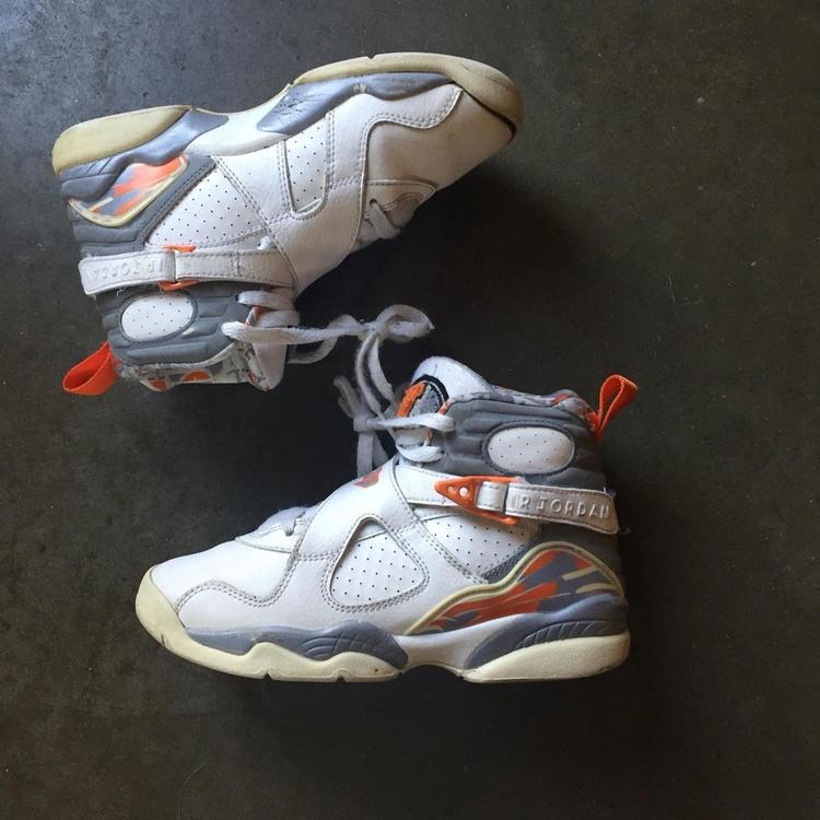 check out ed2da ea97a Nike Air Jordan Retro 8 VIII Retro White Stealth Orange Silver Sz 3.5  305368 102. Related Items