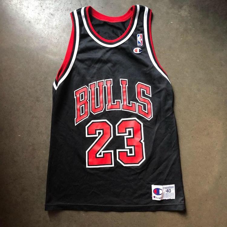 5e06f7b70d00 ... canada mens vintage 90s champion chicago bulls michael jordan black red  jersey sz 40 m other
