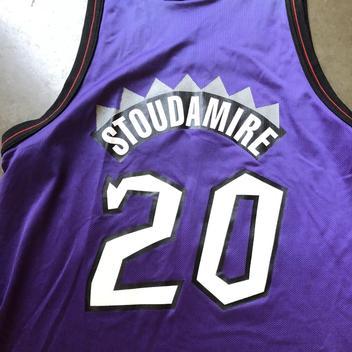 9edf12c8cbc Mens Vintage 90 Champion Damon Stoudamire Purple Toronto Raptors Jersey Sz  48 XL. Related Items