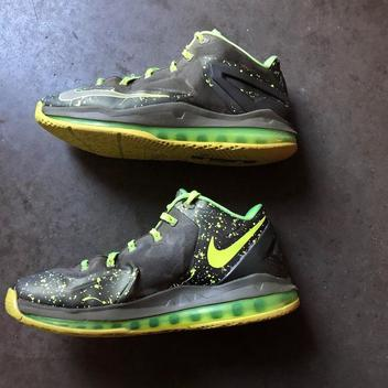 best loved b2a36 be005 Men s Nike Lebron 11 XI Low Dunkman Air Max Volt Green Gray Sz 9.5  (642849-200)