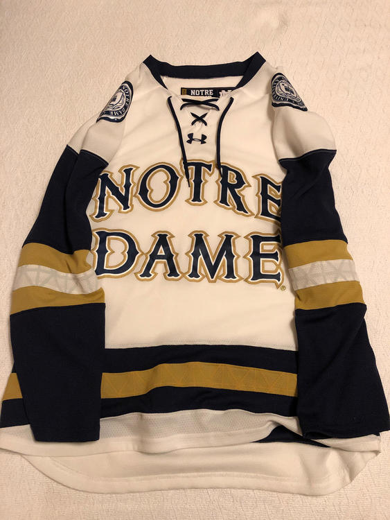 low priced 45d24 7ec04 Under Armour Notre Dame Hockey Jersey