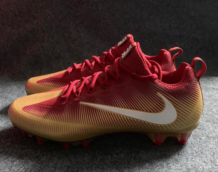 c549a9b5446 Nike Vapor Untouchable Pro Cleats Red Gold 49ers 925423-728 Size 12.5