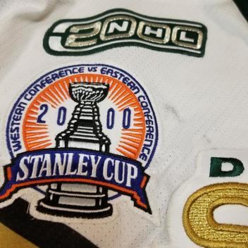 ED BELFOUR 99 00 Dallas Stars Stanley Cup Finals Patch Game Worn Used Jersey  COA. Comments (0) Favorites (3) e1d955d74