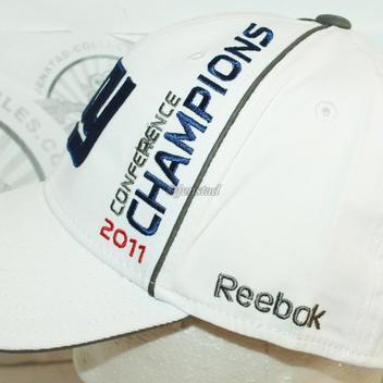 aa8f6a9f7aee9b NEW YORK NY GIANTS REEBOK NFL XLVI - NFC CONFERENCE CHAMPIONS WHITE CAP HAT  2011