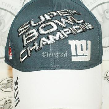 e6958a48bf2317 NY NEW YORK GIANTS ON FIELD REEBOK NFL SUPER BOWL CHAMPIONS XLVI GREY HAT  2011