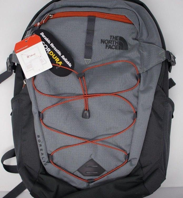 f2a381c6f The North Face Borealis backpack, 28 liter, Dark Gray/orange, New with Tags  !