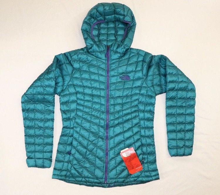 c16624bee North Face Thermoball Hoodie Women's SMALL, HARBOR BLUE\PURPLE TRIM NEW