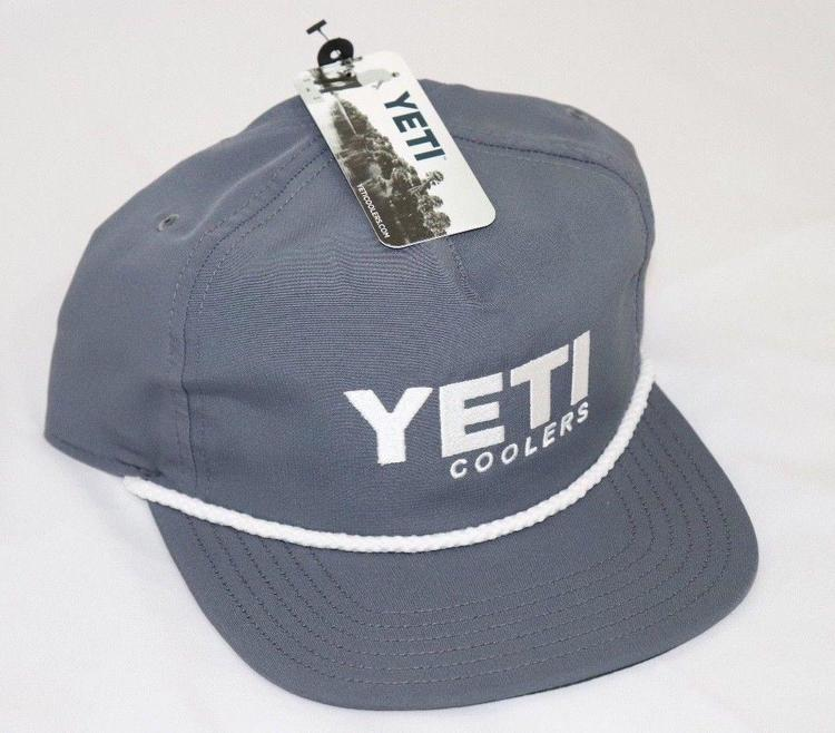0aa21bd442751 Genuine Yeti Coolers Adjustable Rope Boat Trucker Hat