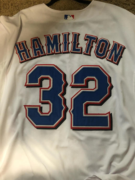 size 40 085c1 9fb00 Texas Rangers Josh Hamilton World Series Jersey Sz 52