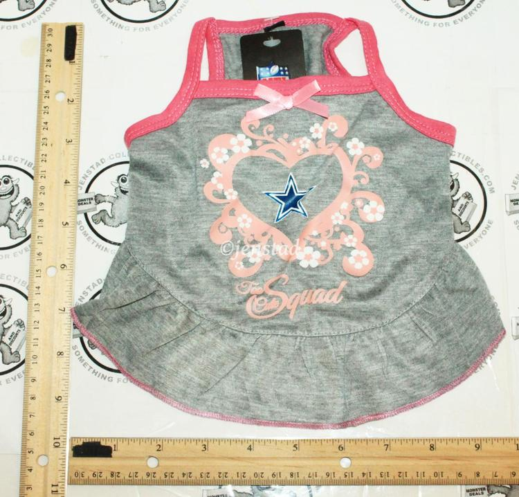 0497a887547 DALLAS COWBOYS NFL DOG XS PET SQUAD JERSEY TEE HEART PINK GRAY DRESS XSMALL  2015. Related Items