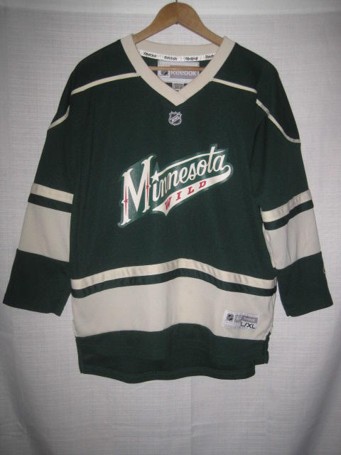 brand new 40da1 f9dda Minnesota Wild Reebok Hockey Jersey kids boys L/XL 3rd green