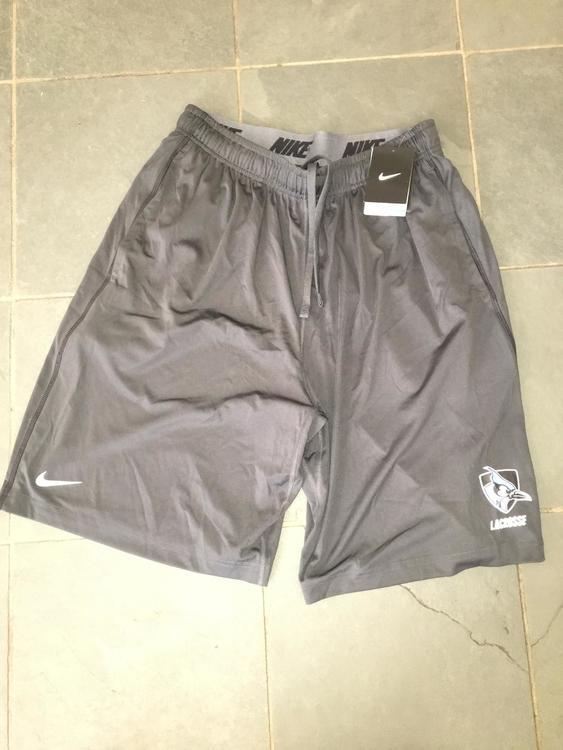 New Nike JOHNS HOPKINS Lacrosse Shorts w  pockets training LARGE DRI-FIT -  SOLD 43f7e1158cf
