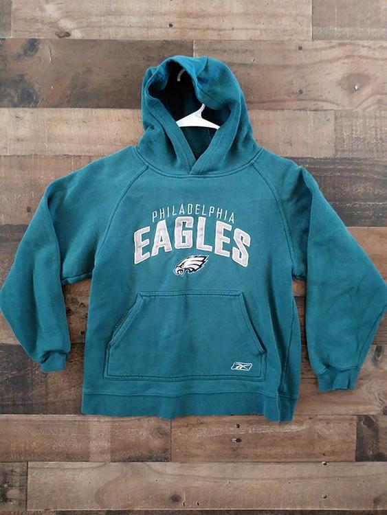 Reebok NFL PHILADELPHIA EAGLES Embroidered Hoodie Sweatshirt ... e5e3b28cd
