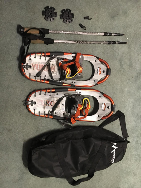 Yukon Charlie's 821 Trail Snowshoes Kit with Ratchet Bindings and Poles - 21