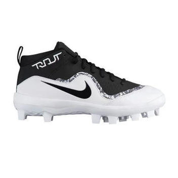 5e53ab5526ee4 NIKE PRO MIKE TROUT IV 4 FORCE AIR BASEBALL CLEATS 11 METAL SPIKES BRAND  NEW ELITE  100 WHITE BLACK