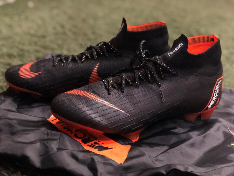 wholesale dealer bc0cd a4244 Nike Mercurial Superfly 6 Elite FG Cleats (Black/Total Orange/White) - Size  9