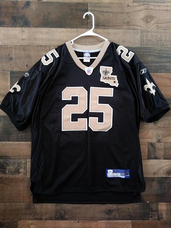 1b675962499 Reebok NFL Football NEW ORLEANS SAINTS #25 Reggie Bush Player Jersey