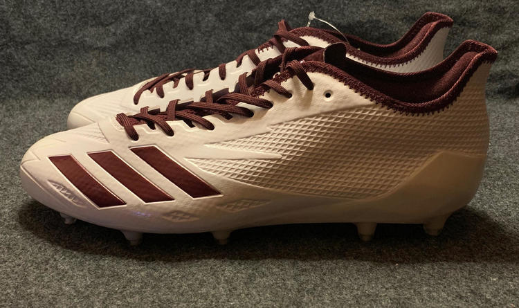 reputable site 2ed0c 4d456 NEW Mens Adidas Adizero 5-Star 6.0 Football Cleats White Maroon BW1084 Size  13.5. Related Items