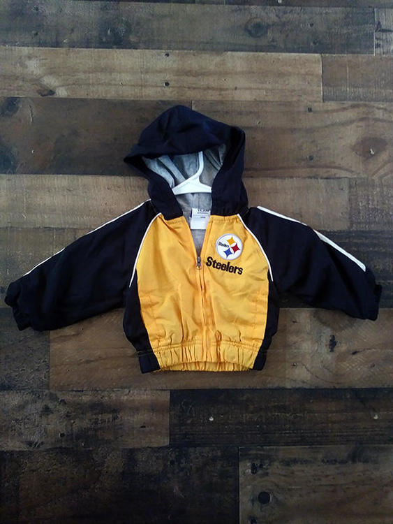 newest collection 0f8bd 7aea3 NFL Team Apparel PITTSBURGH STEELERS Football Embroidered Baby Full Zipper  Hoodie Jacket