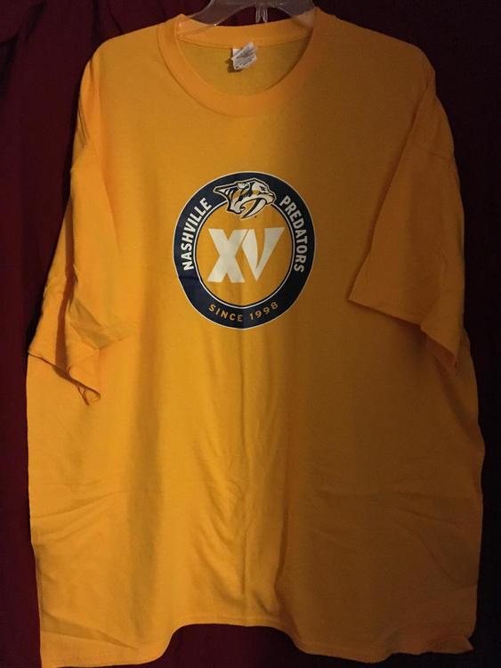 009ce1d19 New Nashville Predators 15th Anniversary XV NHL Hockey XXL T-Shirt. Related  Items