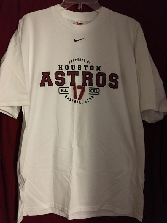 quality design 901d0 0b756 New Houston Astros MLB Baseball Nike #17 Lance Berkman LG T-Shirt