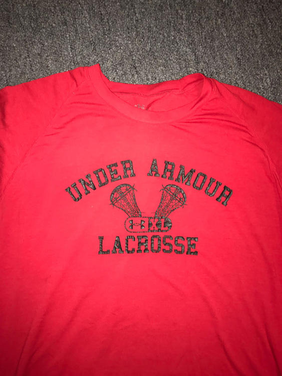 c1c66f6eb Under Armour Under Armor Shirt Red Large | Lacrosse Apparel ...