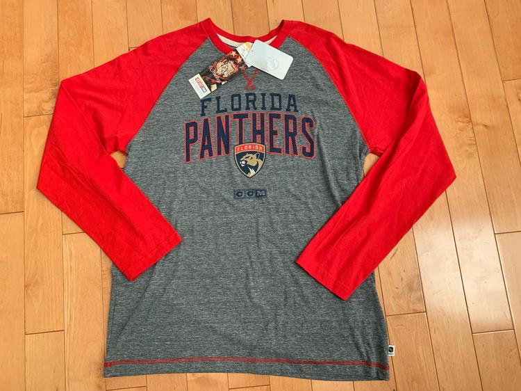 on sale 6c5c6 37cf2 VINTAGE CCM Men's Florida Panthers Long Sleeve Shirt Adult L Red NHL Hockey  $50