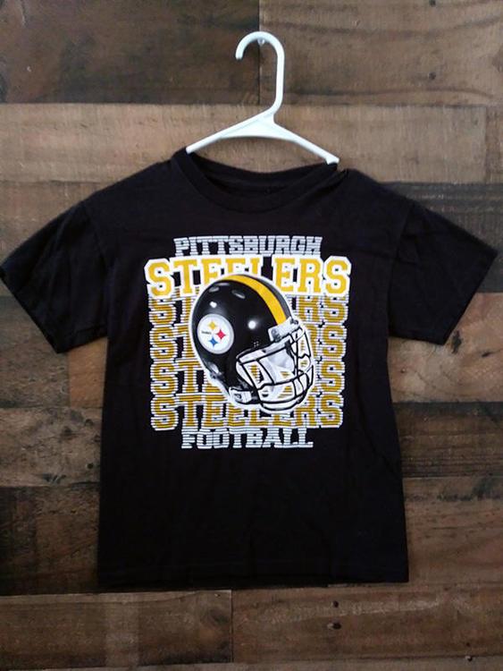 half off b1fe2 827bf NFL Team Apparel PITTSBURGH STEELERS Football Youth Team Shirt