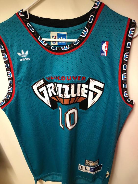 Adidas Vancouver Grizzlies Mike Bibby Jersey  da836843b0b6