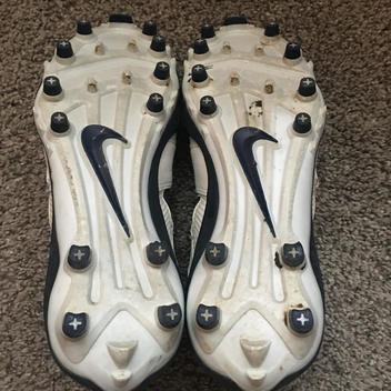 c205f4736f718 Nike Air Huarache F4 TD Lacrosse Cleats Size 7 White  Navy  Checkerboard.  Related Items