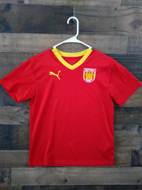 save off 83623 770ae Puma Brand FIFA Soccer SPAIN NATIONAL TEAM Youth Polyester Jersey
