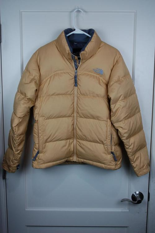 be19eac553 The North Face Mustard Yellow Nuptse 700 Fill Goose Down Puffer Jacket  Women s M