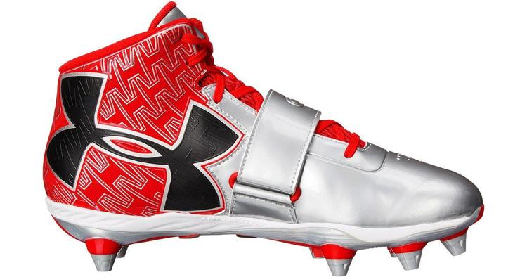 905e4876007 UNDER ARMOUR C1N CAM NEWTON PRO MID D FOOTBALL LACROSSE CLEATS GREY RED 13  BRAND NEW DETACHABLE MENS. Related Items