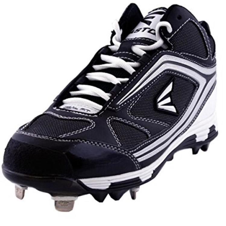 1536c405936 New Easton Phantom Mid Baseball Cleat Black
