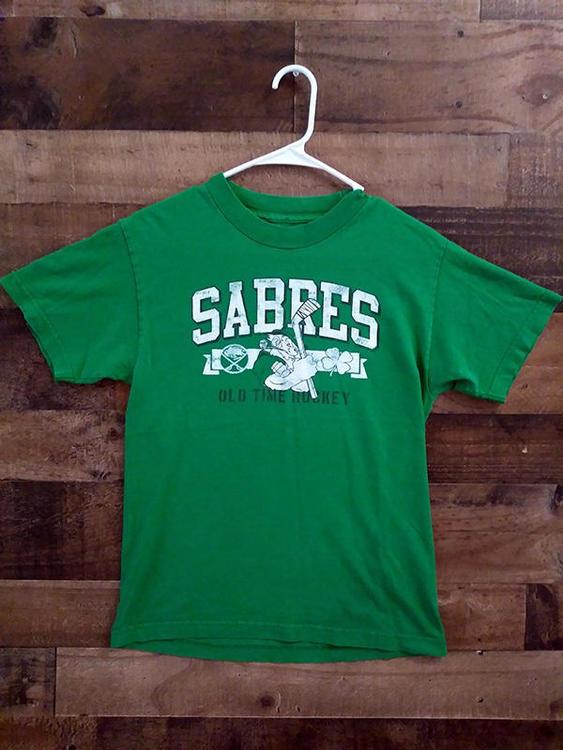 hot sale online b4402 338dc NHL Hockey BUFFALO SABRES Distressed Design Green Irish St Patricks Day  Shirt